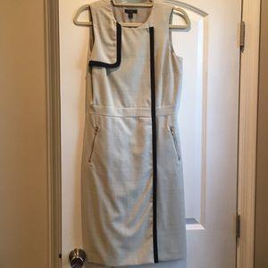 J.Crew (4) structured dress w zipper pocket detail